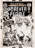 Original Comic Art:Covers, Jack Kirby and Vince Colletta Forever People #6 Cover Original Art (DC, 1972)....
