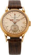 Timepieces:Wristwatch, Vacheron & Constantin Pink Gold Triple Calendar Wristwatch,circa 1950's. ...