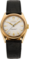 "Timepieces:Wristwatch, Rolex Ref. 6084 ""Big Bubbleback"" Gold Oyster Perpetual, circa1950's. ..."