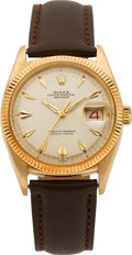 Timepieces:Wristwatch, Rolex Ref. 6605 Vintage Gold Datejust, circa 1940's. ...