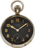 Timepieces:Pocket (post 1900), Rolex Rare G.S. MK II British Military Pocket Watch, circa 1940's....