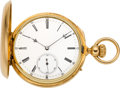 Timepieces:Pocket (pre 1900) , Henry Capt Rare Keyless Fusee Chronometer With Helical Hairspring,circa 1870. ...