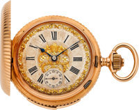 Perrenoud & Cie Rose Gold Minute Repeater With Ornate Dial, circa 1890's