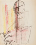 Fine Art - Work on Paper:Drawing, NORMAN WILFRED LEWIS (American, 1909-1979). Untitled .Pastel on paper . 11-3/4 x 9-3/4 inches (29.8 x 24.8 cm). ...