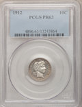 Proof Barber Dimes: , 1912 10C PR63 PCGS. PCGS Population (49/117). NGC Census: (28/112).Mintage: 700. Numismedia Wsl. Price for problem free NG...