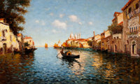 RICHARD DEY DE RIBCOWSKY (Bulgarian/American, 1880-1936) Venice Oil on canvas 24 x 40 inches (61