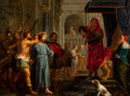 Fine Art - Painting, European:Antique  (Pre 1900), Attributed to CORNELIS SCHUT (Flemish, 1597-1655). Christ Beforethe Pilate . Oil on copper . 22-1/2 x 29-1/4 inches (57...