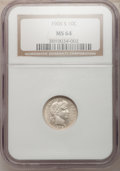 Barber Dimes: , 1906-S 10C MS64 NGC. NGC Census: (27/25). PCGS Population (20/42).Mintage: 3,136,640. Numismedia Wsl. Price for problem fr...