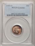 Barber Dimes, 1909-O 10C PCGS Genuine. The PCGS number ending in .92 suggestCleaning as the reason, or perhaps one of the reasons, that ...