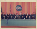 "Autographs:Celebrities, Astronaut Group Signed Photograph, 10"" x 8"", ""Ed Mitchell,"" ""Ron Evans,"" and ""Jerry Carr."" This photo was taken ... (Total: 1 Item)"