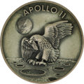 Transportation:Space Exploration, Apollo 11 Flown Robbins Sterling Silver Medallion, numbered 390 of 450 flown, presented to Joe Garino by Michael Collins. ... (Total: 1 Item)