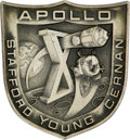Transportation:Space Exploration, Apollo 10 Flown Robbins Sterling Silver Medallion, numbered 248 of 300 flown, presented to Joe Garino by Gene Cernan. From... (Total: 1 Item)