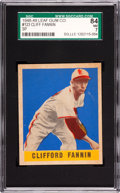 Baseball Cards:Singles (1940-1949), 1948-49 Leaf Clifford Fannin SP #123 SGC 84 NM 7 - Pop One, SecondFinest Known! ...