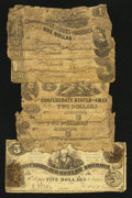 Confederate Notes:Group Lots, Confederate Group Lot.. ... (Total: 8 notes)