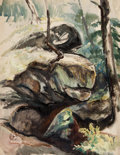 Fine Art - Work on Paper:Watercolor, HENRY GEORGE KELLER (American, 1869-1949). End of Day and On the Estate of Louis Rorimer (2). Watercolor on artist's... (Total: 2 Items)