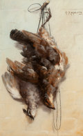 Fine Art - Work on Paper:Drawing, H. RAYMOND (French, 19th Century). Hanging Fowl, circa 1890.Pastel on paper . 21-1/2 x 12 inches (54.6 x 30.5 cm). Sign...