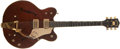 Musical Instruments:Electric Guitars, 1966 Gretsch Country Gentleman Guitar Burgundy/Walnut Finish,#116838....