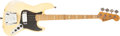 Musical Instruments:Bass Guitars, 1975 Fender Jazz Bass Special Olympic White Guitar, #671709....