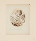 Fine Art - Work on Paper:Drawing, CAROLINE WATSON (British, 1760-1814). After SAMUEL SHELLEY(British, 1750-1808). Original Drawing and Related Stipple ...(Total: 2 Items)