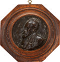 Fine Art - Sculpture, European:Antique (Pre 1900), JOHN MACALLAN SWAN (British, 1847-1910). Portrait of MatthijsMaris, the Artist (Dutch 1839-1917). Bronze relief rondel...