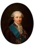 Fine Art - Painting, European:Antique  (Pre 1900), School of FRANÇOIS HUBERT DROUAIS (French, 1727-1775). Portraitof a Nobleman of the Order of the Golden Fleece and the Or...