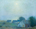 Fine Art - Painting, American:Antique  (Pre 1900), BRUCE CRANE (American, 1857-1937). Peace at Night . Oil oncanvas . 14 x 17 inches (35.6 x 43.2 cm). Signed lower right:...