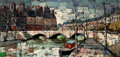 Fine Art - Painting, American:Contemporary   (1950 to present)  , FABIANI (French, 20th Century). Cityscape , circa 1950s. Oilon canvas . 23 x 47 inches (58.4 x 119.4 cm). Signed lower ...