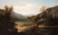 WILLIAM CHARLES ANTHONY FRERICHS (American, 1829-1905) North Carolina Mountain Landscape oil on canv