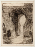 Fine Art - Work on Paper:Print, PROPERTY FROM A VIRGINIA PRIVATE COLLECTION. HENRY OSSAWA TANNER(American, 1859-1937). Gate of Tangiers, circa 1910. ...