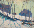 Fine Art - Painting, American:Modern  (1900 1949)  , ALLEN TUCKER (American, 1866-1939). Winter Landscape, 1920.Oil on canvas laid on masonite. 20-1/2 x 24 inches (52.1 x 6...