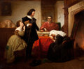 Fine Art - Painting, European:Antique  (Pre 1900), PROPERTY FROM A SOUTHWESTERN PRIVATE COLLECTION. EMANUEL GOTTLIEBLEUTZE (German, 1816-1868). Receiving the Order, 186...
