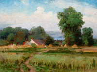 ALEXIS JEAN FOURNIER (American, 1865-1948) Country Landscape, 1898 Oil on canvas 18-1/4 x 24 inch