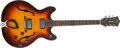 Musical Instruments:Electric Guitars, 1966 Guild Starfire IV Sunburst Guitar, #EL 530....
