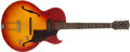 Musical Instruments:Electric Guitars, 1961 Gibson ES-125TC Cherry Sunburst Guitar, #Q910824....
