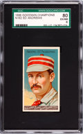 """Baseball Cards:Singles (Pre-1930), 1888 N162 Goodwin """"Champions"""" Ed Andrews SGC 80 EX/NM 6 - Pop One,Second Highest...."""