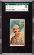 "Baseball Cards:Singles (Pre-1930), 1888 N162 Goodwin ""Champions"" King Kelly SGC 80 EX/NM 6...."