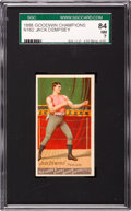 """Boxing Cards:General, 1888 N162 Goodwin """"Champions"""" Jack Dempsey SGC 84 NM 7 - Pop One,Second Highest!..."""