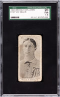Baseball Cards:Singles (Pre-1930), 1903-04 E107 Breisch Williams Vic Willis Rookie SGC 20 Fair 1.5....