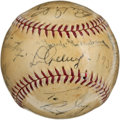 Autographs:Baseballs, 1938 New York Yankees & Detroit Tigers Signed Baseball....