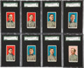 Baseball Cards:Sets, 1910 E90-2 American Caramel Near Set (8/11) With Wagner. ...