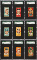 "Baseball Cards:Lots, Very Rare 1911 T205 ""Broad Leaf"" SGC-Collection (9) With Zach Wheat. ..."