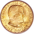 Commemorative Gold, 1922 G$1 Grant With Star MS65 PCGS. CAC Gold Label....