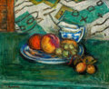 Fine Art - Painting, American:Modern  (1900 1949)  , LOUIS RITMAN (American, 1889-1963). Still-Life Arrangement.Oil on masonite. 15 x 18 inches (38.1 x 45.7 cm). Signed low...