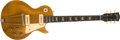 Musical Instruments:Electric Guitars, 1953 Gibson Les Paul Gold Top Electric Guitar, #31283....