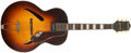 "Musical Instruments:Acoustic Guitars, 1940s Gretsch Synchchromatic 16"" Sunburst Guitar, #361...."