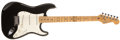 Musical Instruments:Electric Guitars, 1988 Fender Stratocaster Black Guitar, #E412176....