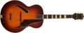 Musical Instruments:Acoustic Guitars, Late '40s Gretsch Synchromatic Sunburst Guitar, #619....
