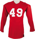 Football Collectibles:Uniforms, Early 1950's Tom Landry Game Worn Jersey. It's practically inconceivable to the legions of Dallas Cowboys fans that continu...