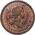 Patterns, 1870 10C Standard Silver Ten Cents, Judd-869, Pollock-965, High R.7, PR65 Red and Brown PCGS....