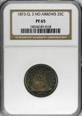 Proof Seated Quarters, 1873 25C No Arrows PR65 NGC....